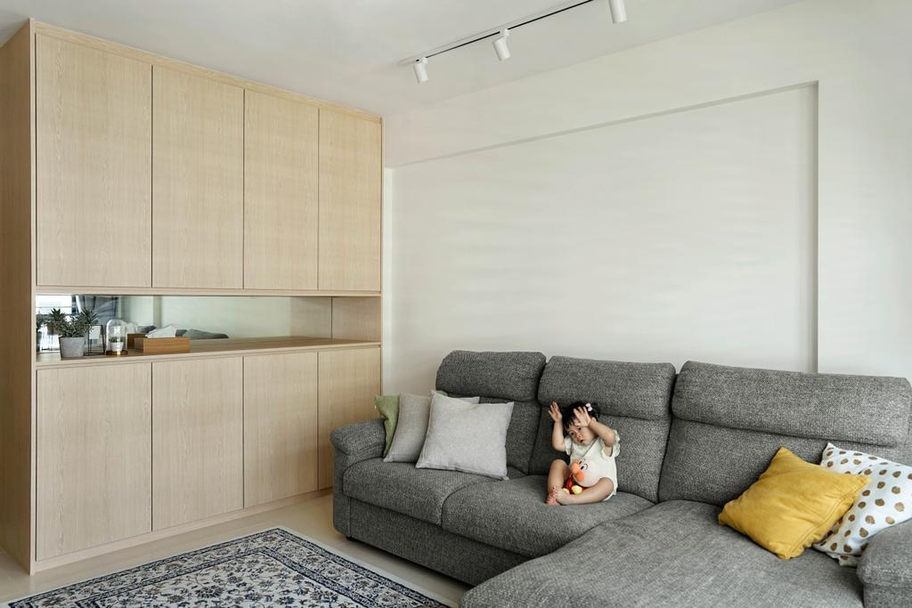Minimalistic, HDB, Living Room, Tampines Street 61, Interior Designer, Authors • Interior & Styling, Muji