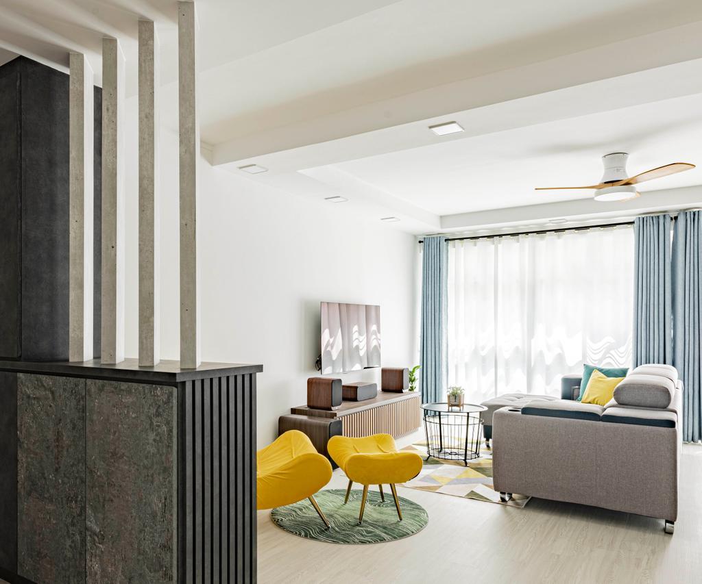 Modern, HDB, Living Room, Yishun Avenue 1, Interior Designer, Stylemyspace, Contemporary