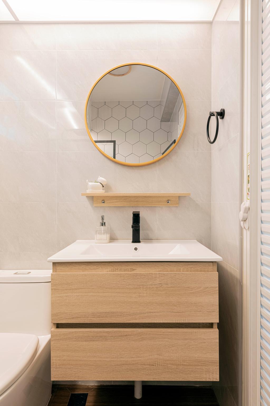 Modern, HDB, Bathroom, Yishun Avenue 1, Interior Designer, Stylemyspace, Contemporary