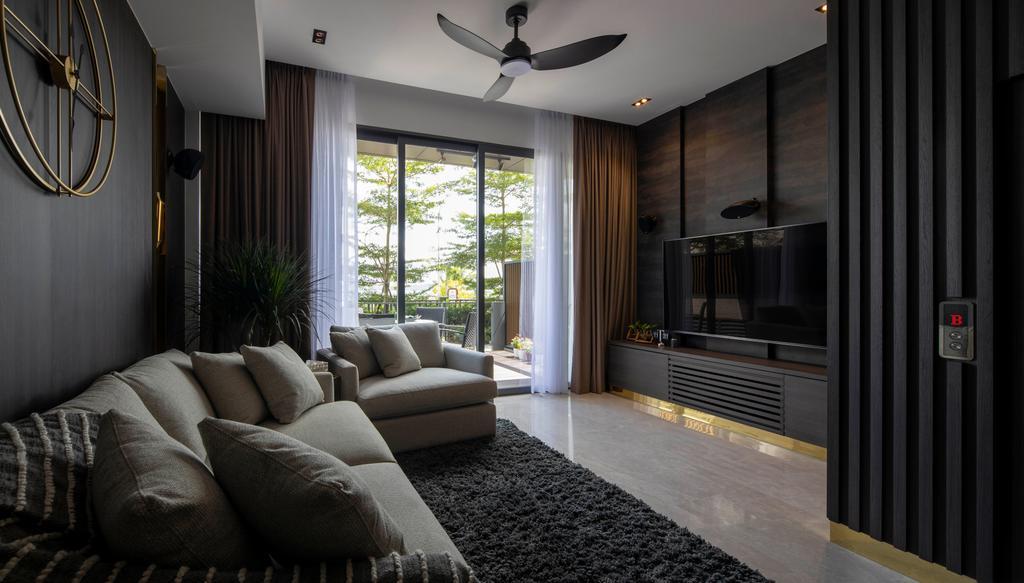 Contemporary, Landed, Living Room, Wak Hassan, Interior Designer, Aestherior
