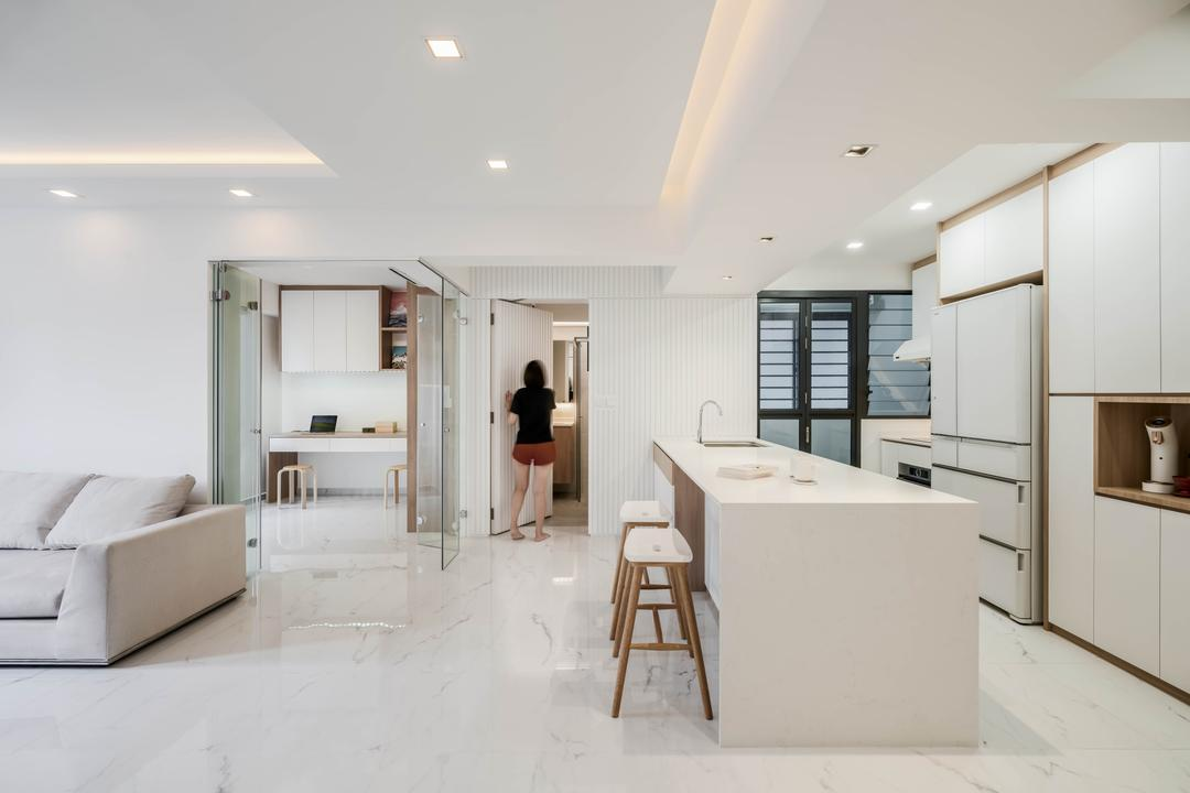 Inside an Open-Plan Bidadari Flat With Smart Home Fittings