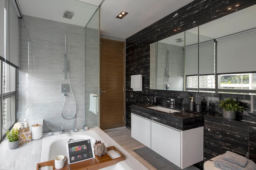 8 St. Thomas, Home Philosophy, Contemporary, Bathroom, Condo, Bathtub, Bath Tub