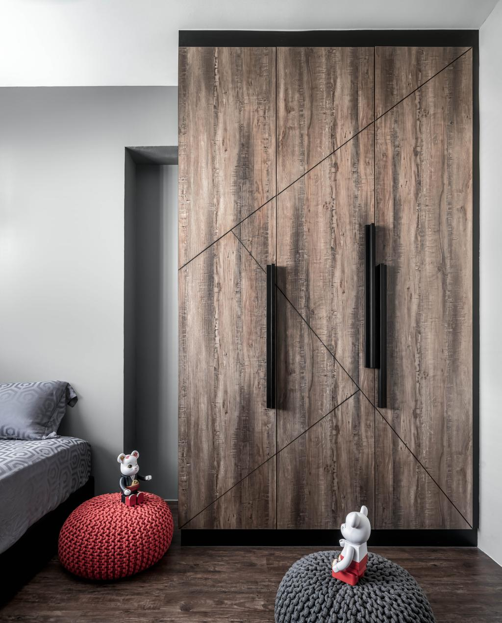 Industrial, HDB, Bedroom, Canberra Street, Interior Designer, Ethereall, Contemporary
