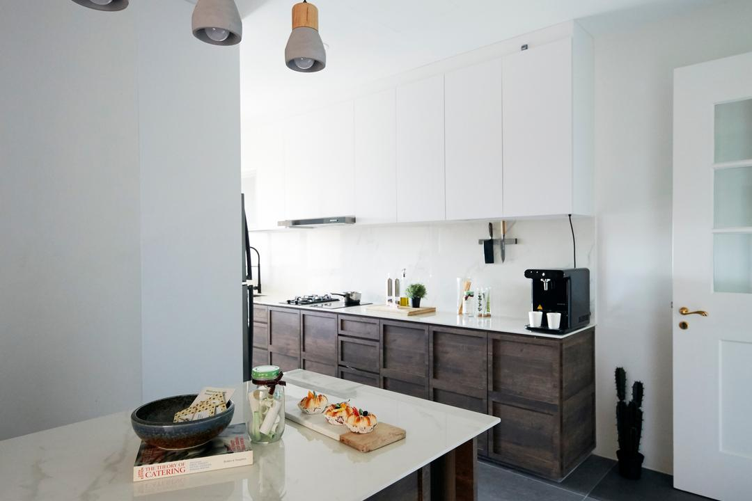 Maplewoods, The Interior Lab, Industrial, Kitchen, Condo, Kitchen Counter