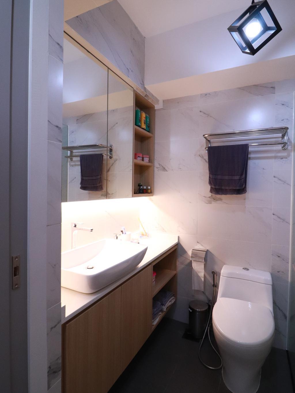 Contemporary, HDB, Bathroom, Bedok, Interior Designer, I Interior Design