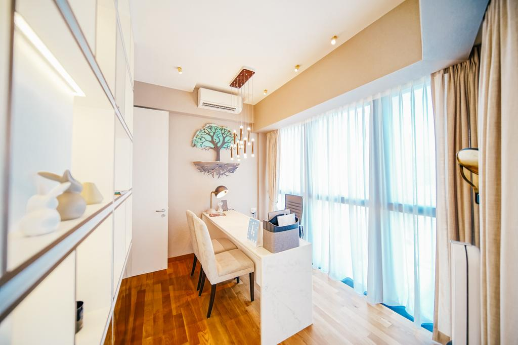 Contemporary, Condo, Study, Duo Residences, Interior Designer, I Interior Design