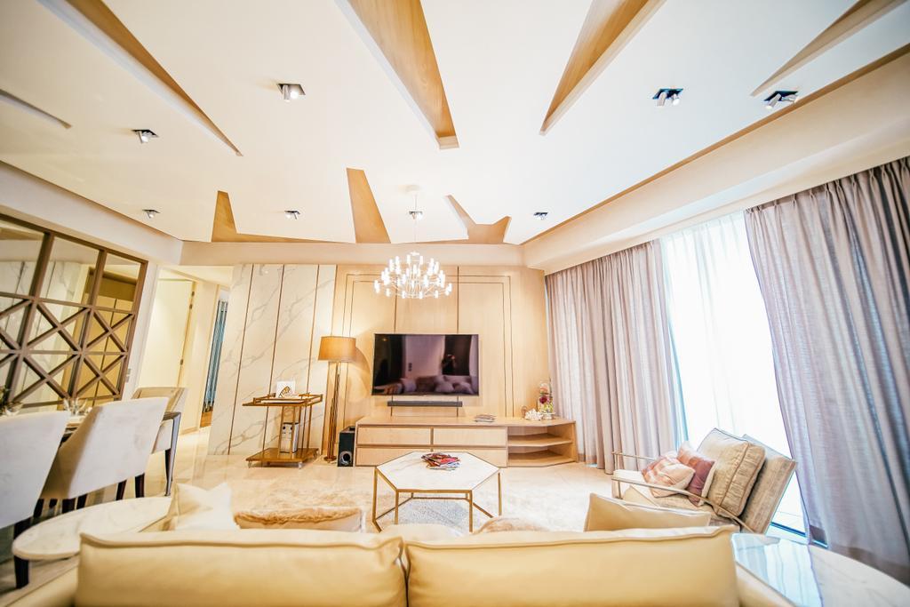 Contemporary, Condo, Living Room, Duo Residences, Interior Designer, I Interior Design