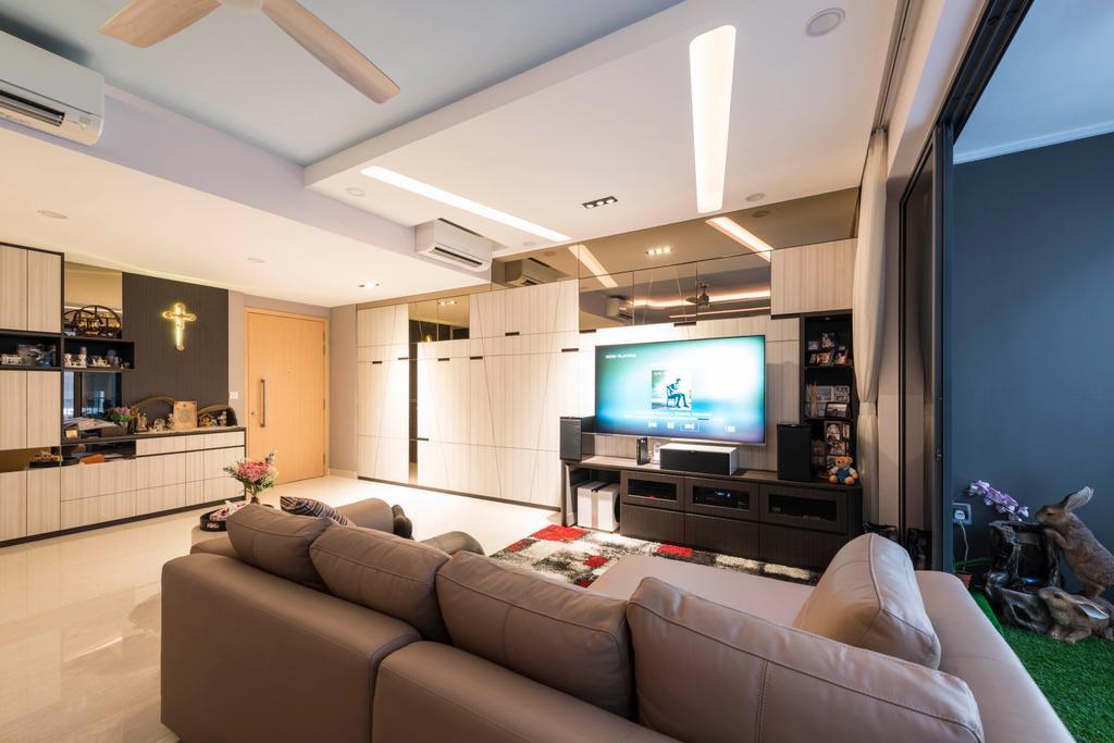 Contemporary, HDB, Living Room, Marine Parade, Interior Designer, I Interior Design
