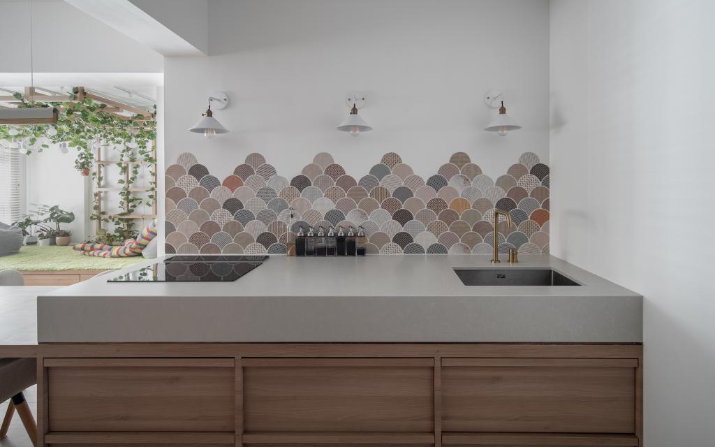 Scandinavian, HDB, Kitchen, Circuit Road, Interior Designer, Arche Interior, Open Kitchen, Open Concept