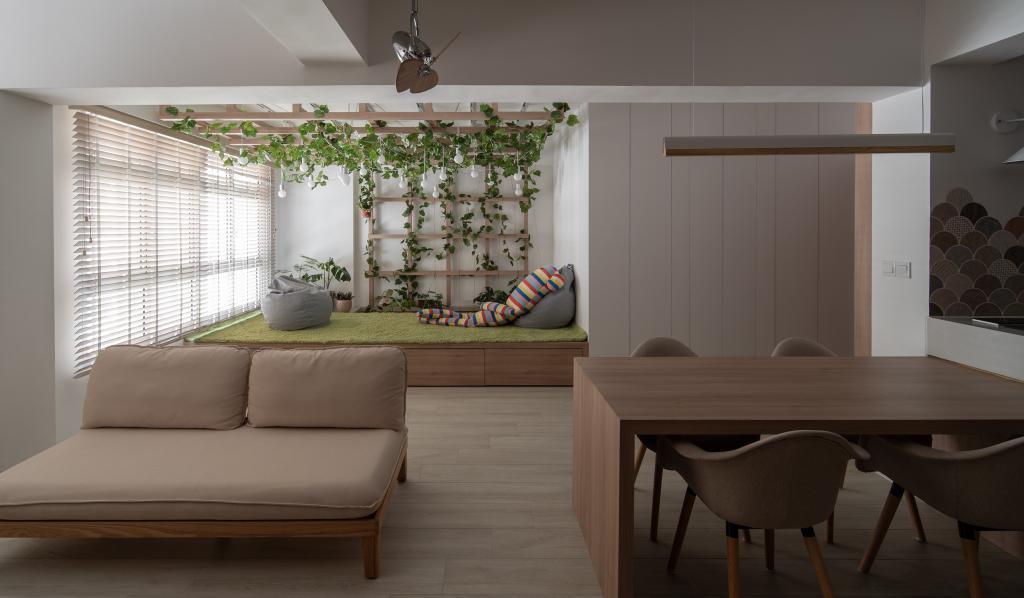 Scandinavian, HDB, Living Room, Circuit Road, Interior Designer, Arche Interior