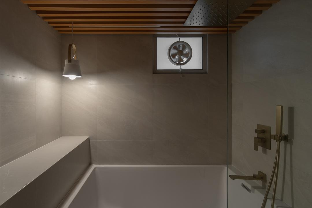 Circuit Road, Arche Interior, Scandinavian, Bathroom, HDB, Bathtub, Bath, Onsen, Ryokan