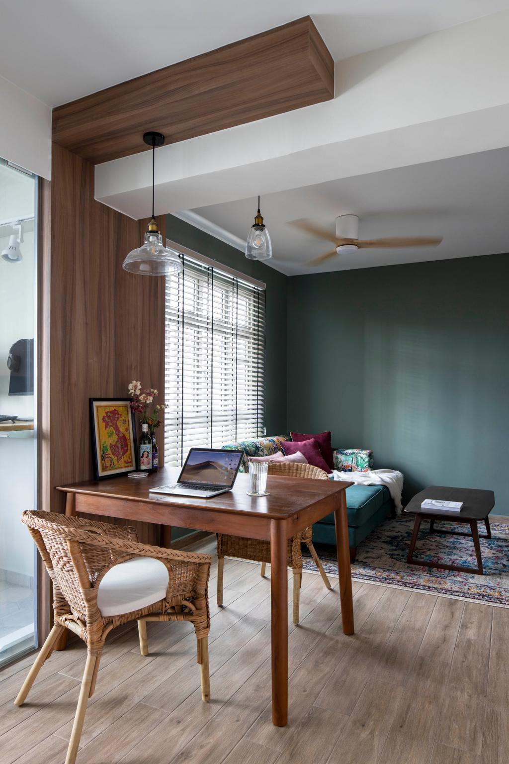 Contemporary, HDB, Living Room, Henderson Road, Interior Designer, Adroit ID, Beam, Wooden Beam