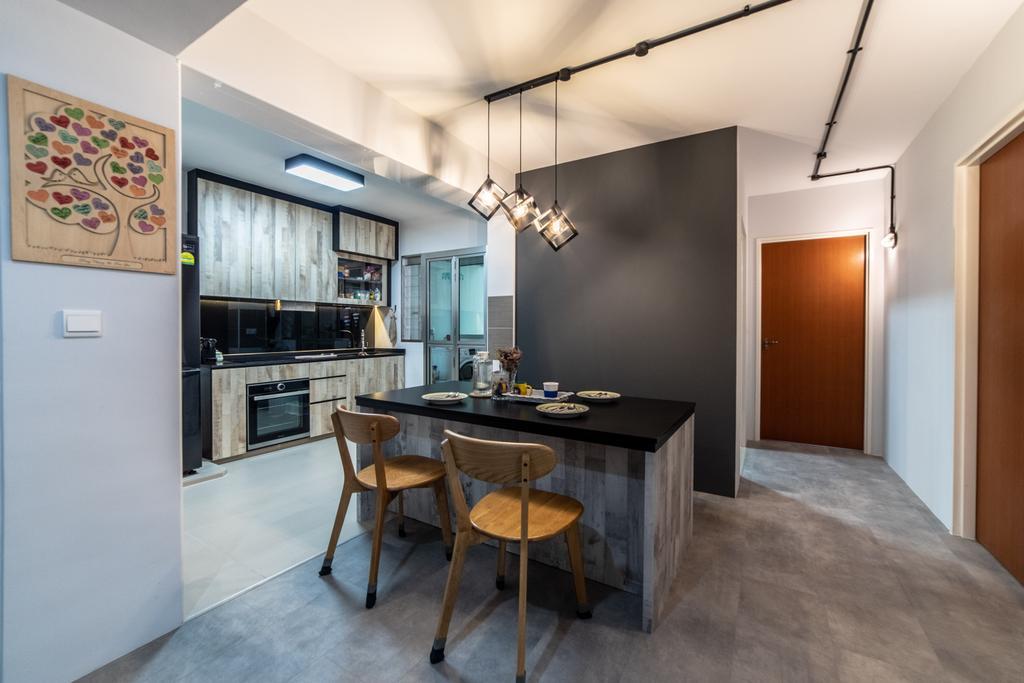 Contemporary, HDB, Dining Room, Bukit Batok West Avenue 9, Interior Designer, Jialux Interior