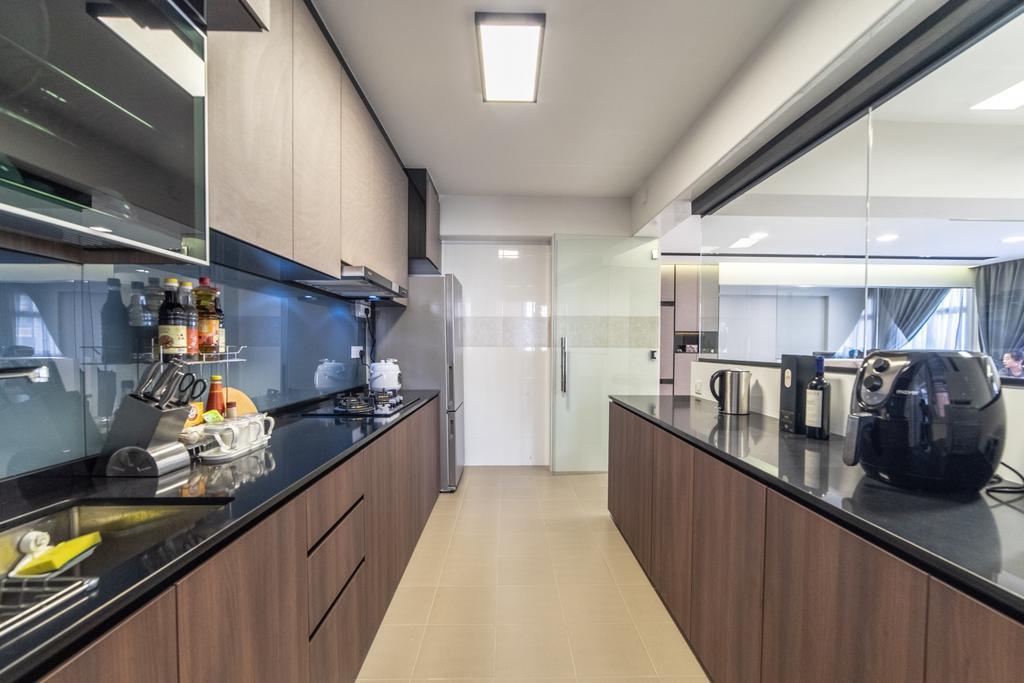 HDB, Kitchen, Canberra Crescent, Interior Designer, Jialux Interior