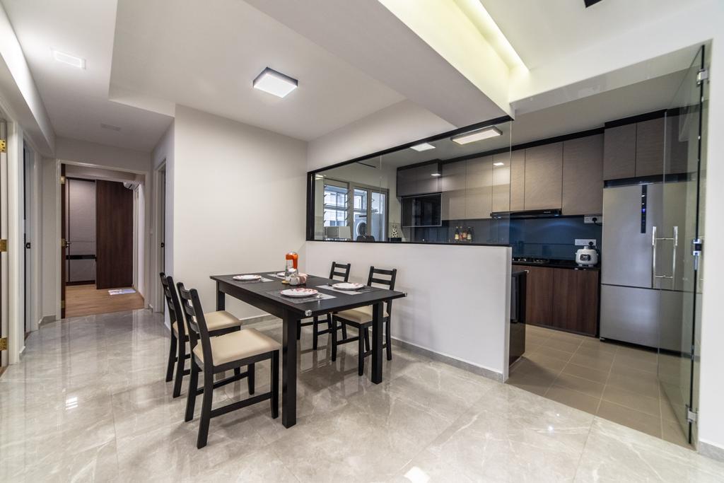 HDB, Dining Room, Canberra Crescent, Interior Designer, Jialux Interior