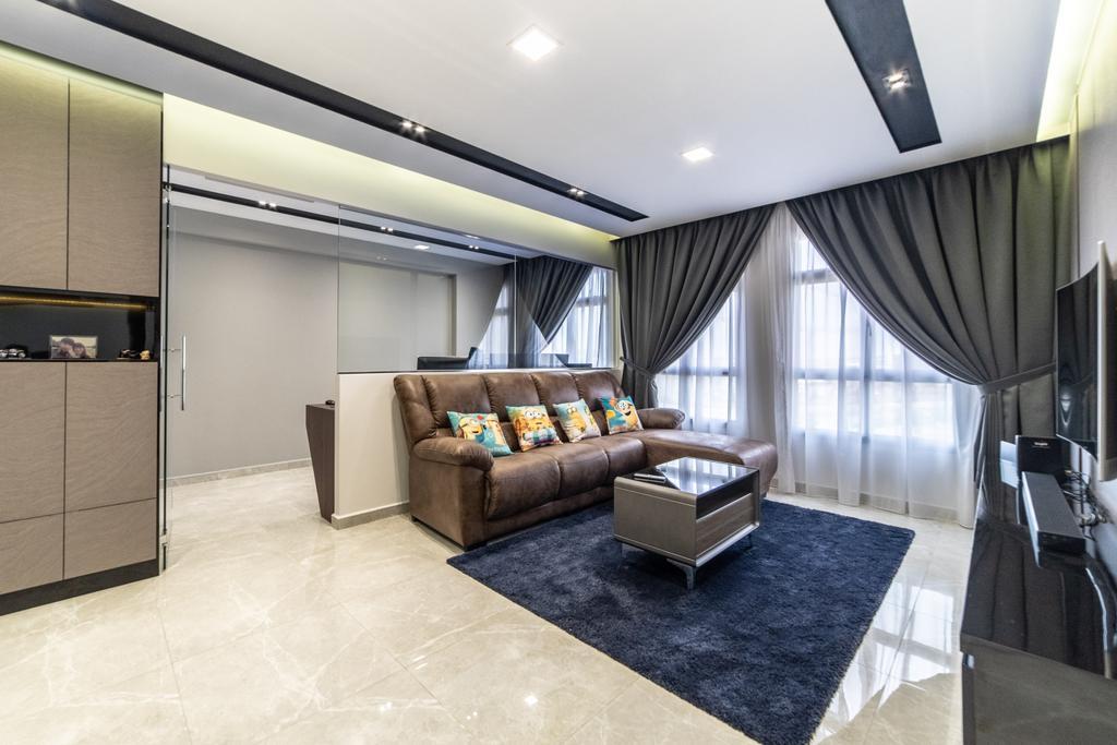 HDB, Living Room, Canberra Crescent, Interior Designer, Jialux Interior