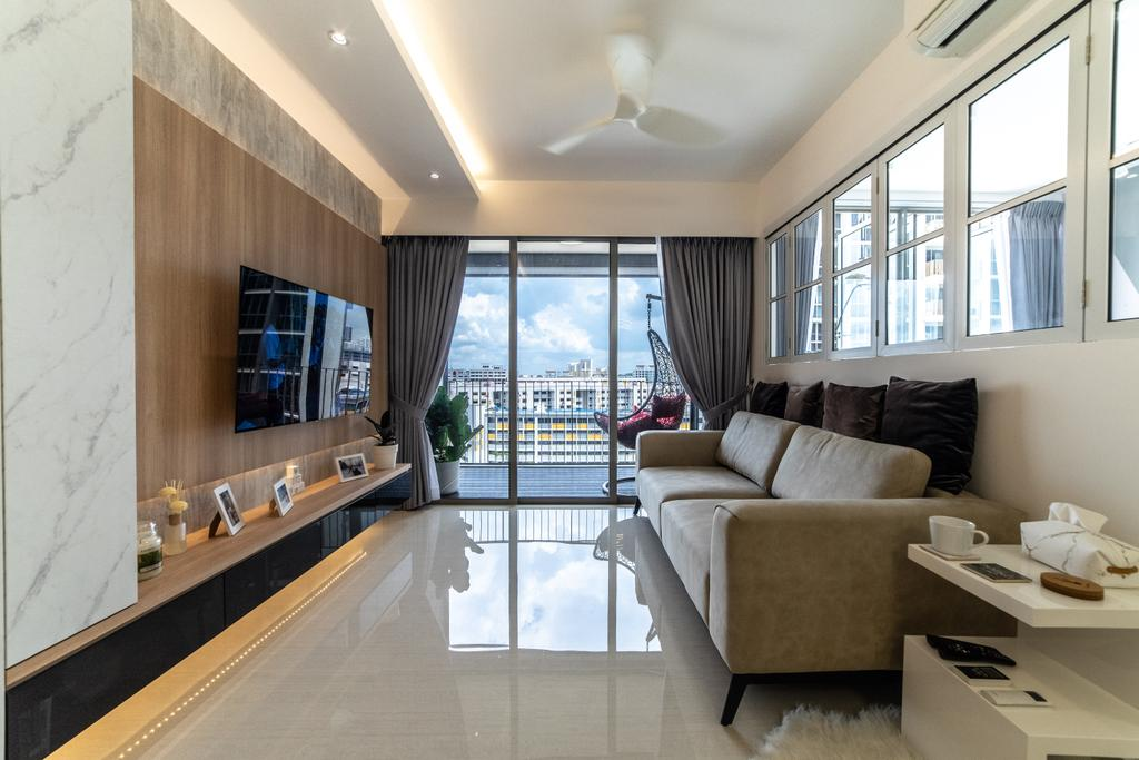 Modern, Condo, Living Room, Sol Acres, Interior Designer, Jialux Interior