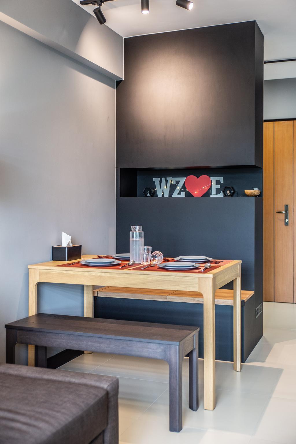 Contemporary, HDB, Montreal Link, Interior Designer, Jialux Interior