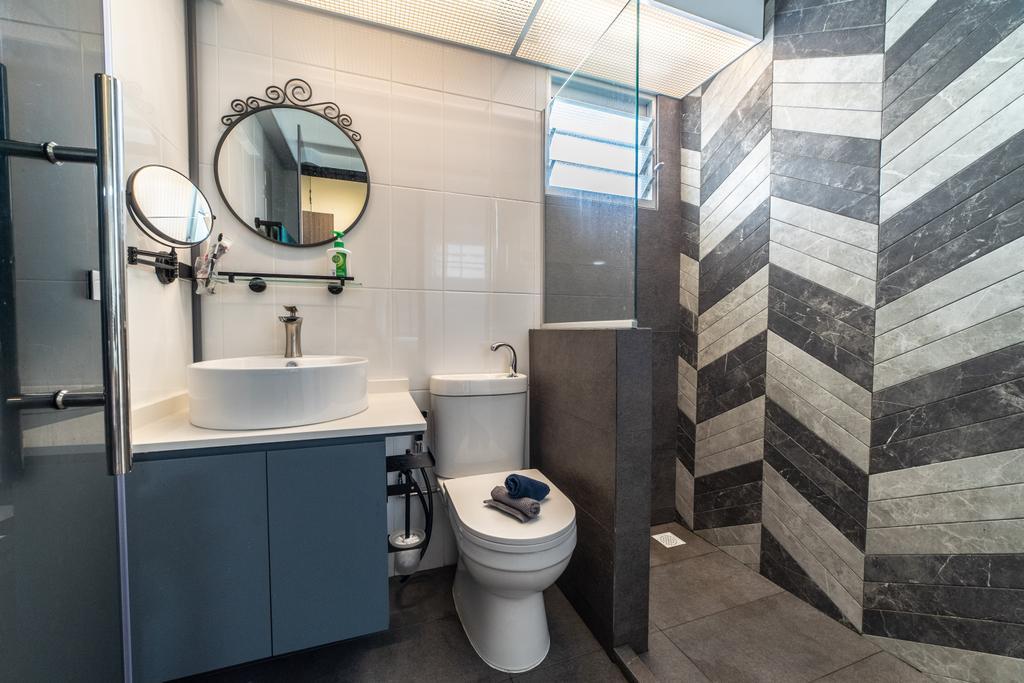 Contemporary, HDB, Bathroom, Sembawang Crescent, Interior Designer, Jialux Interior