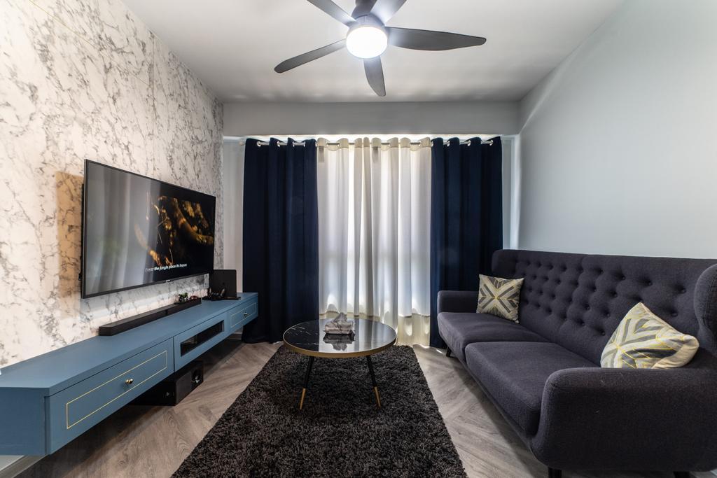 Contemporary, HDB, Living Room, Sembawang Crescent, Interior Designer, Jialux Interior
