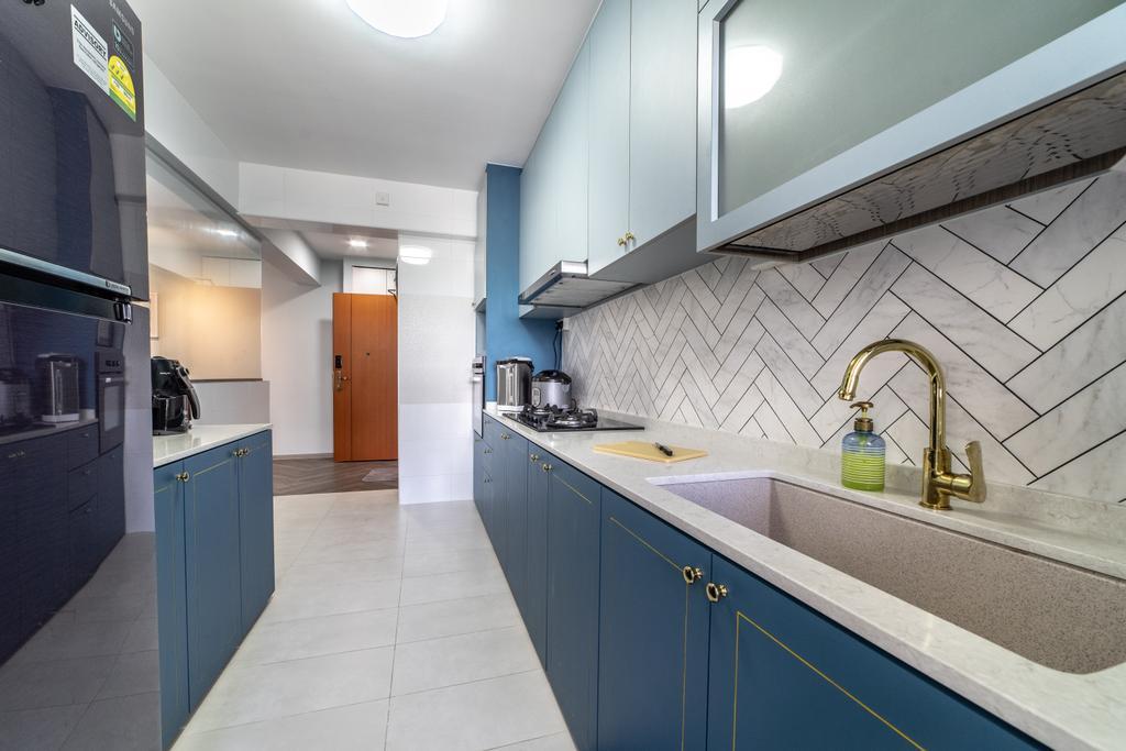 Contemporary, HDB, Kitchen, Sembawang Crescent, Interior Designer, Jialux Interior