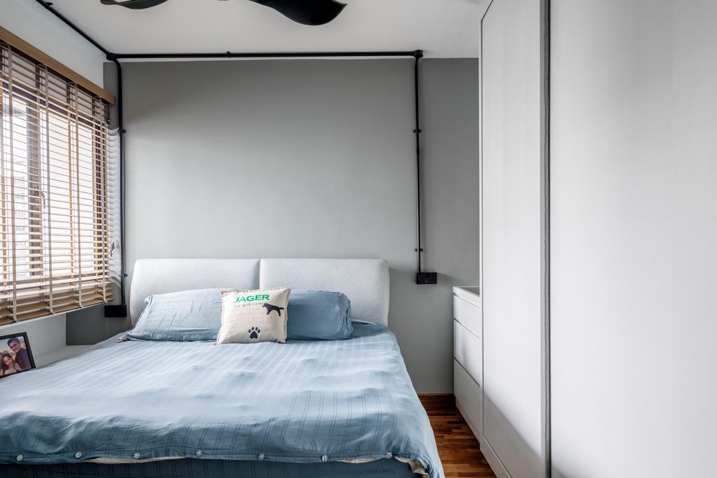 Contemporary, HDB, Bedroom, Sengkang East Way, Interior Designer, Jialux Interior