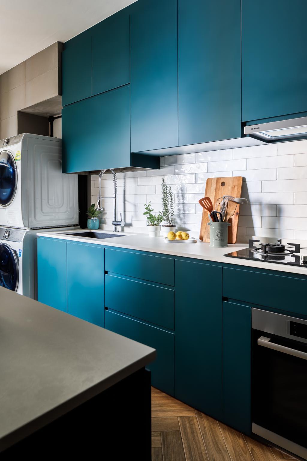 Contemporary, HDB, Kitchen, Sengkang East Way, Interior Designer, Jialux Interior