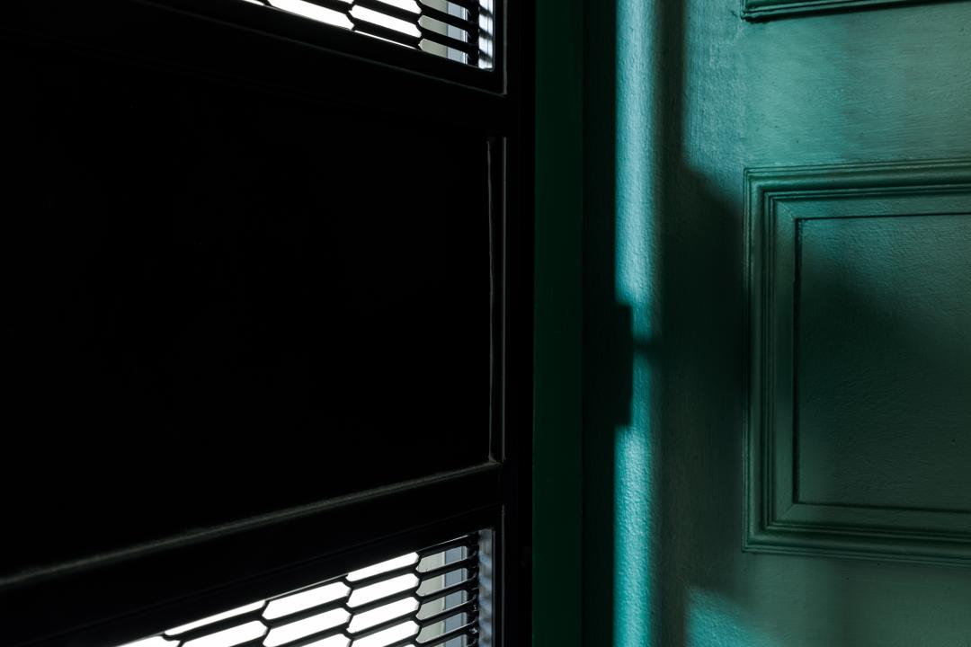 Sengkang East Way, Jialux Interior, Contemporary, Living Room, HDB, Gate, Door, Entrance