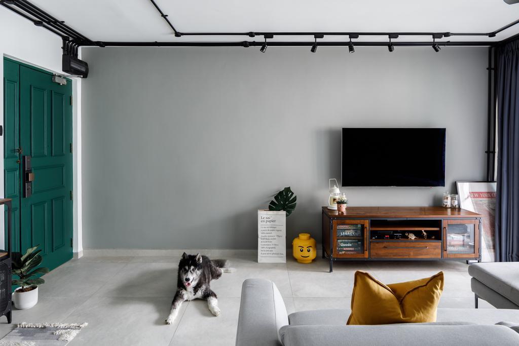 Contemporary, HDB, Living Room, Sengkang East Way, Interior Designer, Jialux Interior