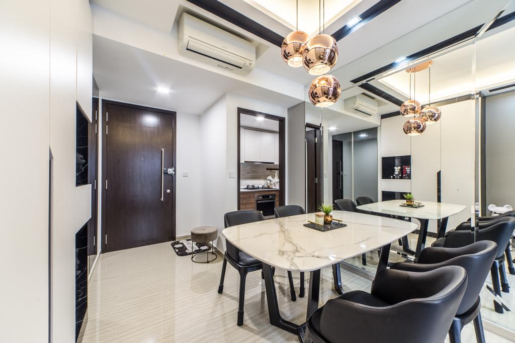 Contemporary, Condo, Dining Room, The Brownstone, Interior Designer, Jialux Interior
