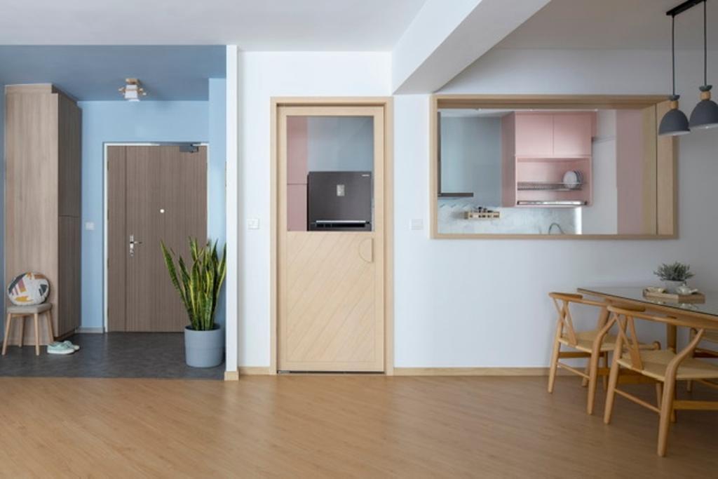 Minimalistic, HDB, Kitchen, Woodlands Rise, Interior Designer, Adroit ID