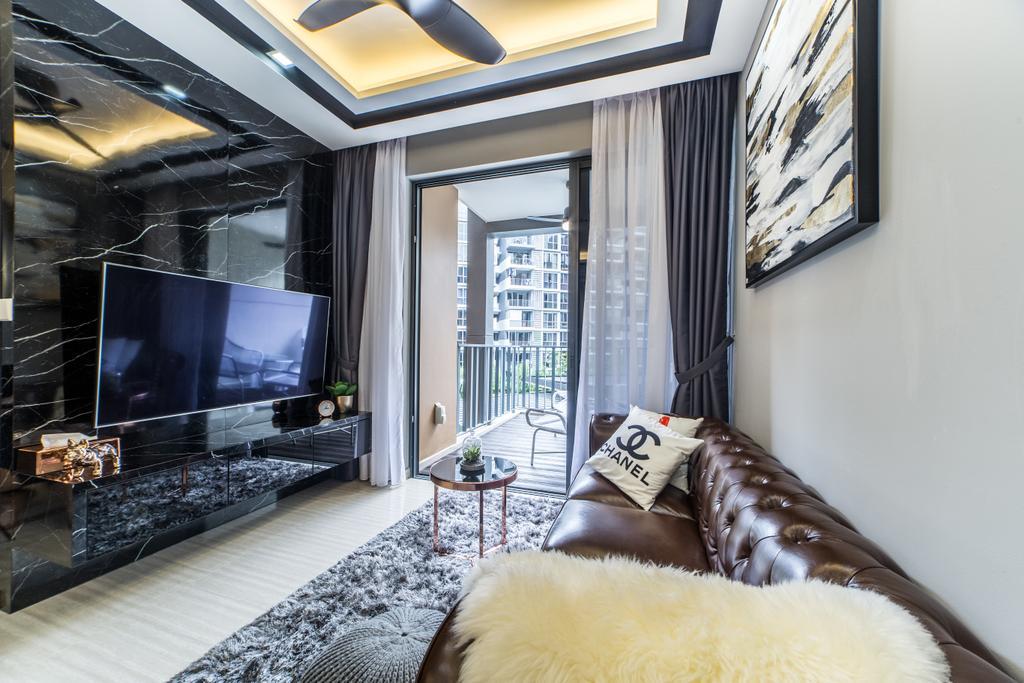 Contemporary, Condo, Living Room, The Brownstone, Interior Designer, Jialux Interior