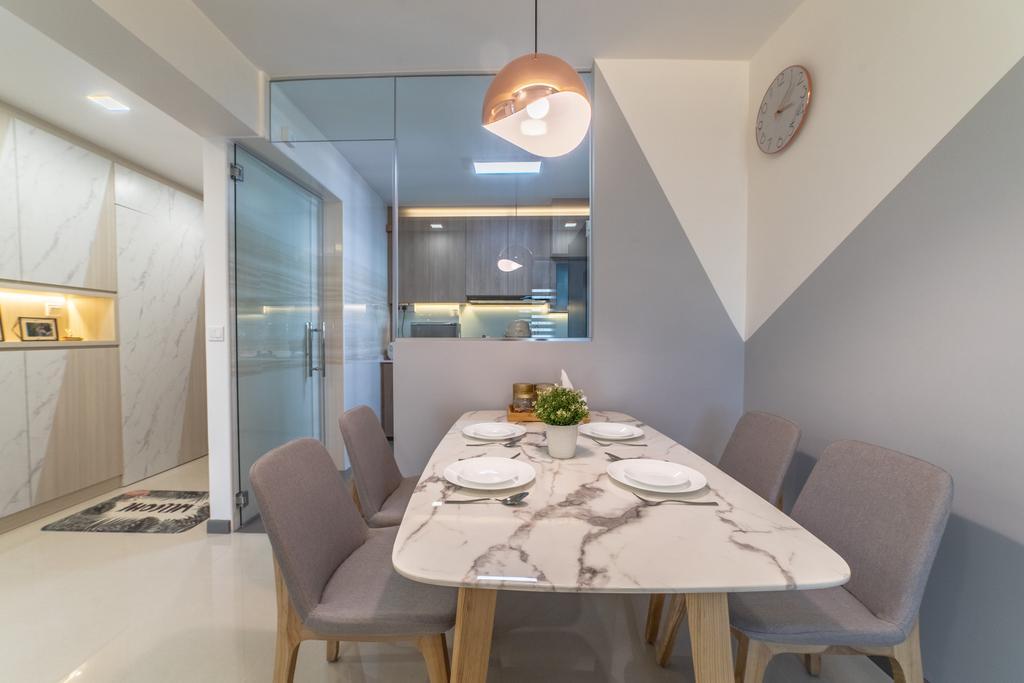Contemporary, HDB, Dining Room, Yishun Street 43, Interior Designer, Jialux Interior, Modern