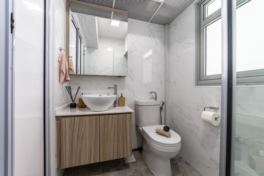 Contemporary, HDB, Bathroom, Yishun Street 43, Interior Designer, Jialux Interior, Modern