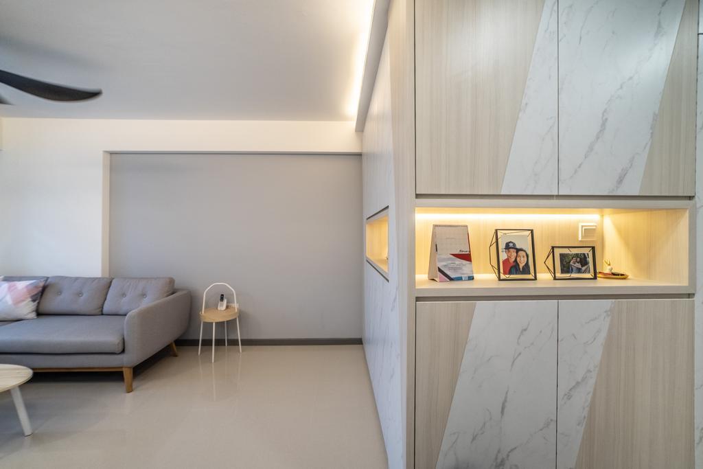 Contemporary, HDB, Living Room, Yishun Street 43, Interior Designer, Jialux Interior, Modern