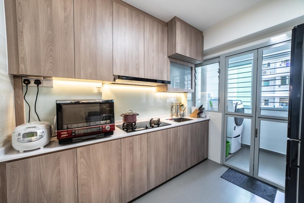 Contemporary, HDB, Kitchen, Yishun Street 43, Interior Designer, Jialux Interior, Modern