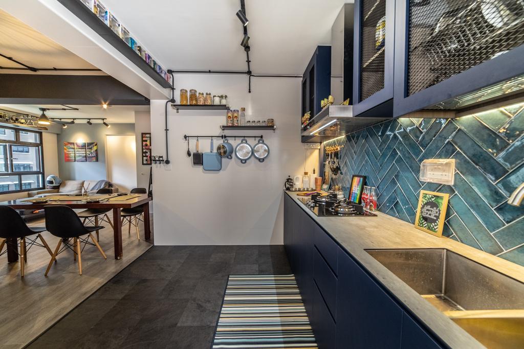 Contemporary, HDB, Kitchen, Buangkok Link, Interior Designer, Jialux Interior, Eclectic