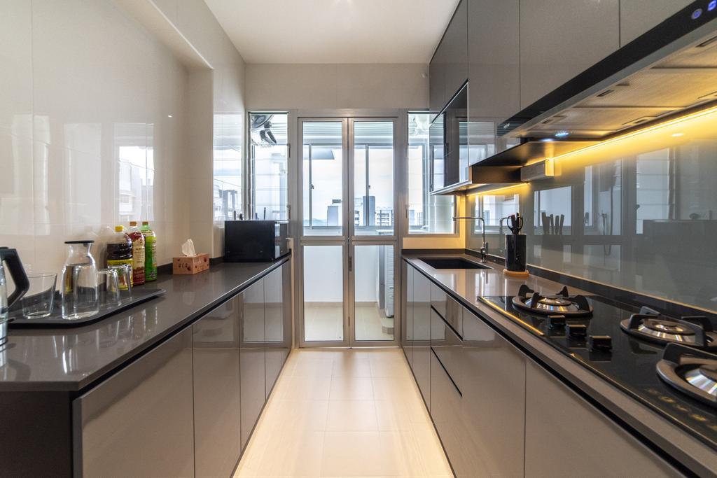Contemporary, HDB, Kitchen, Sumang Lane (Block 221B), Interior Designer, Jialux Interior, Transitional