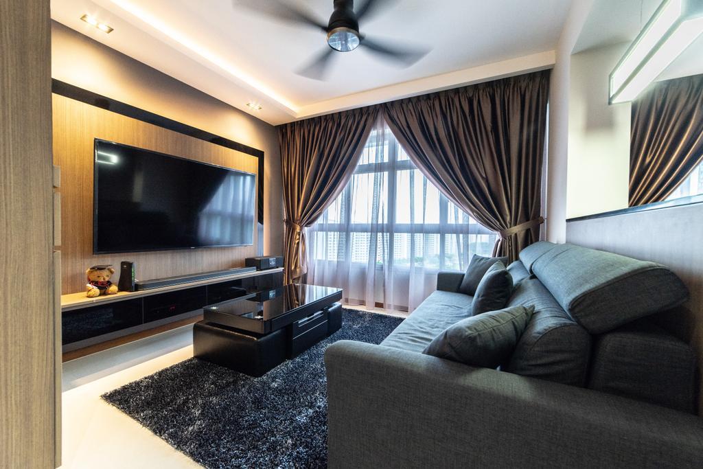 Contemporary, HDB, Living Room, Sumang Lane (Block 221B), Interior Designer, Jialux Interior, Transitional