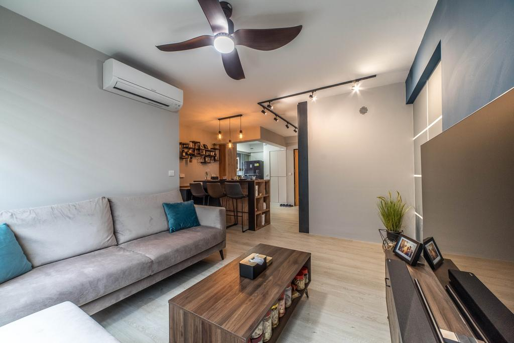 Contemporary, HDB, Living Room, Bedok North Avenue 4, Interior Designer, Jialux Interior