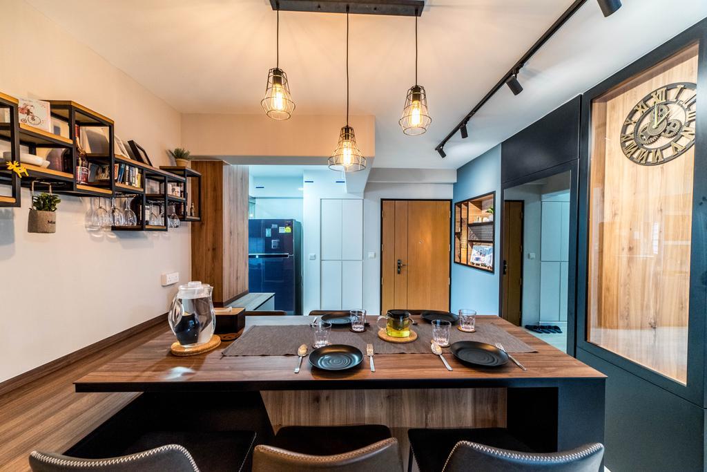 Contemporary, HDB, Dining Room, Bedok North Avenue 4, Interior Designer, Jialux Interior