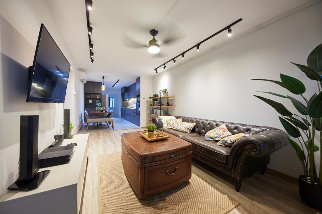 Contemporary, HDB, Living Room, Yishun Street 71, Interior Designer, i-Chapter