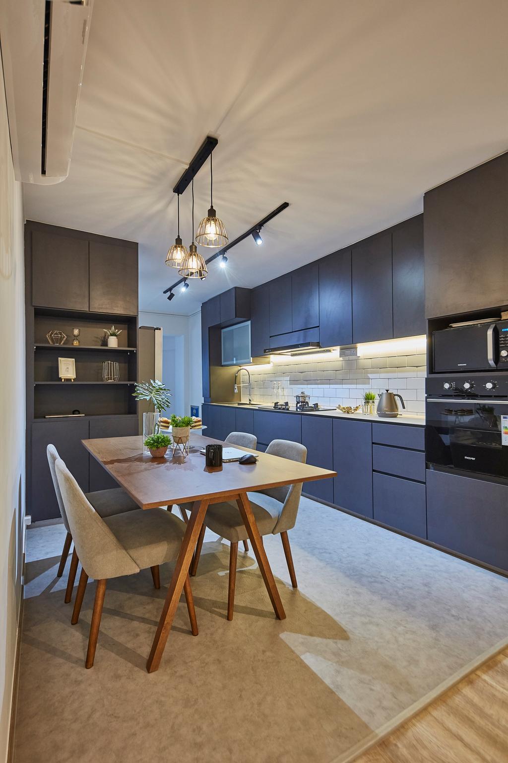 Contemporary, HDB, Dining Room, Yishun Street 71, Interior Designer, i-Chapter