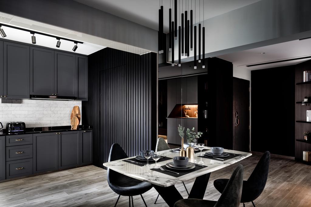 Contemporary, HDB, Dining Room, Buangkok Link, Interior Designer, Jialux Interior
