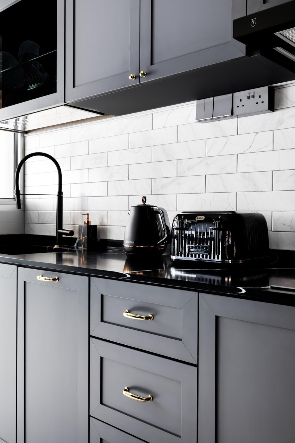Contemporary, HDB, Kitchen, Buangkok Link, Interior Designer, Jialux Interior