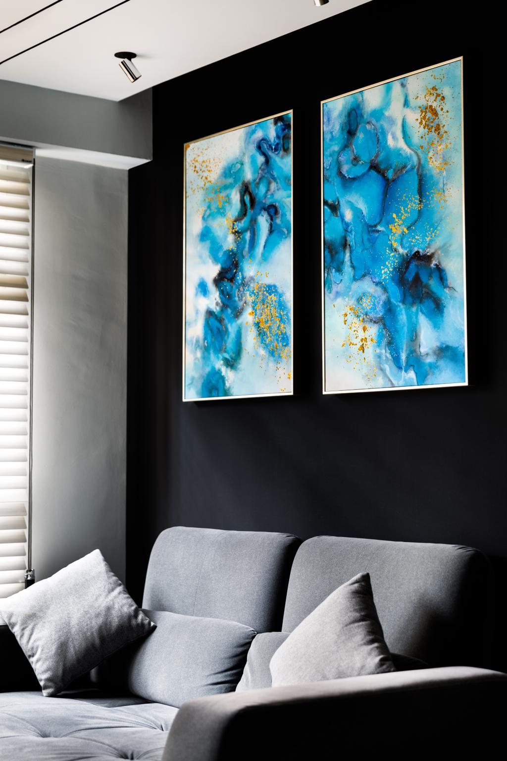 Contemporary, HDB, Living Room, Buangkok Link, Interior Designer, Jialux Interior
