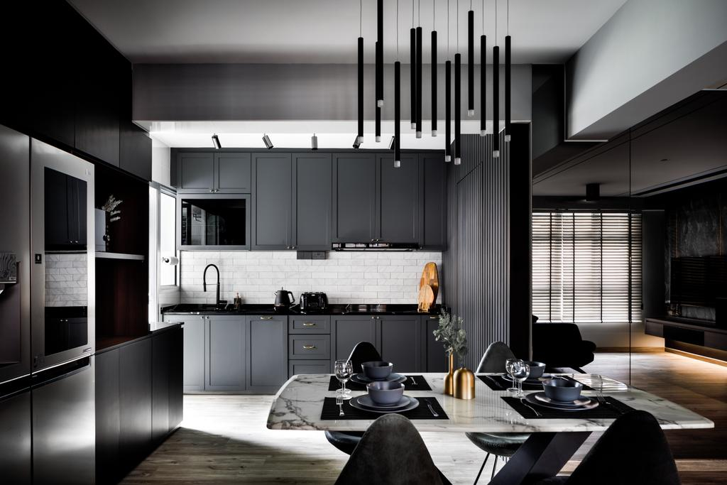 Contemporary, HDB, Kitchen, Buangkok Link, Interior Designer, Jialux Interior