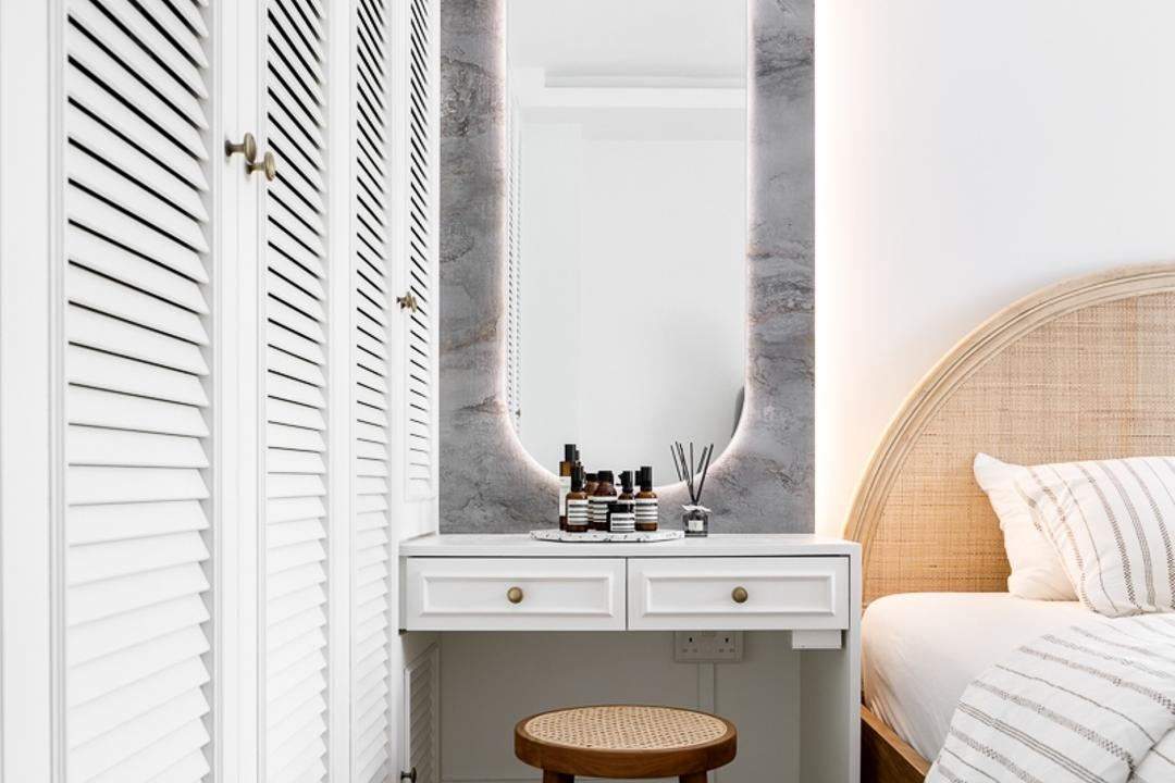 Jurong East Street 21, Anhans Interior Design, Minimalistic, Bedroom, HDB, Vanity, Dressing Table