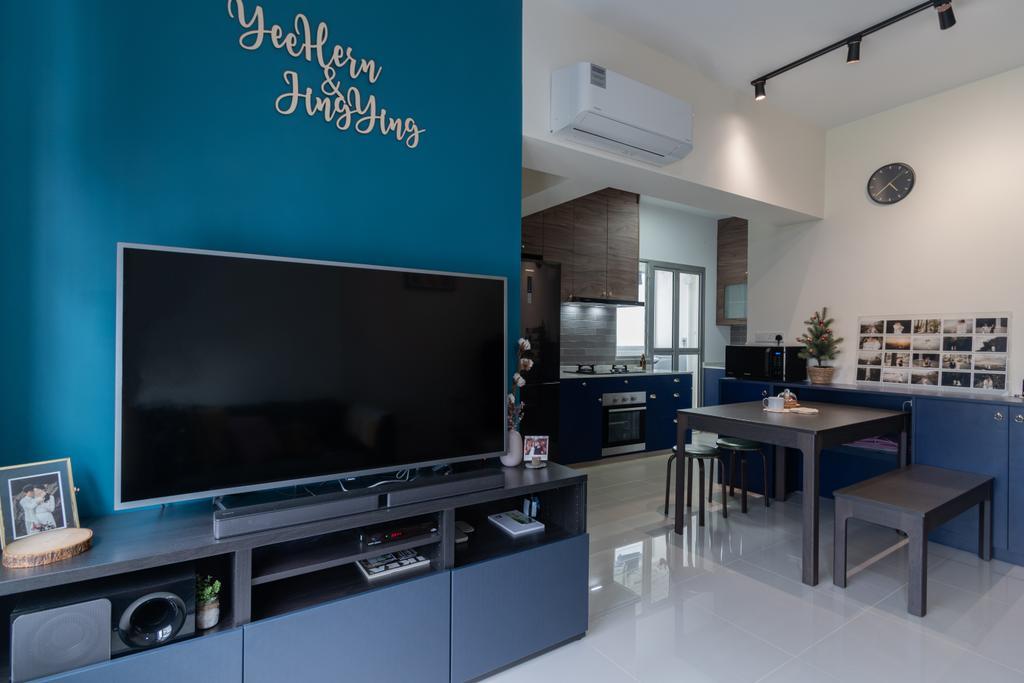 Contemporary, HDB, Living Room, Canberra Street, Interior Designer, Yang's Inspiration Design