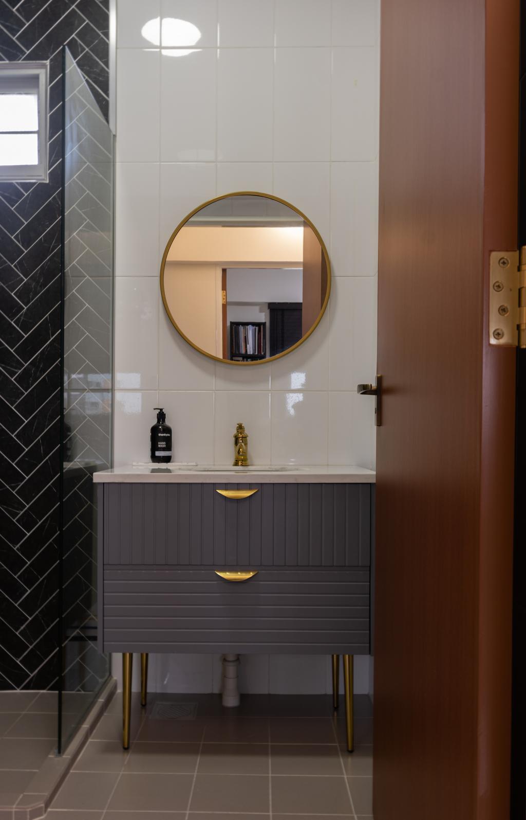 Contemporary, HDB, Bathroom, Canberra Street, Interior Designer, Yang's Inspiration Design